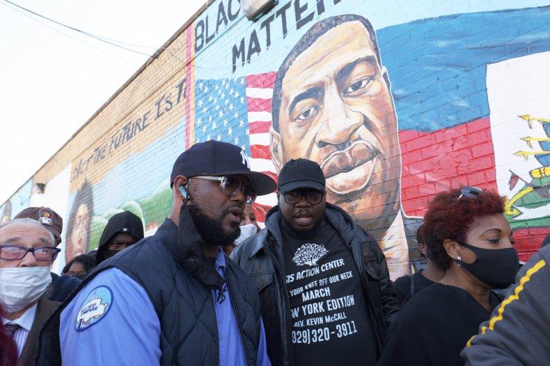 Terrence Floyd speaks at vigil
