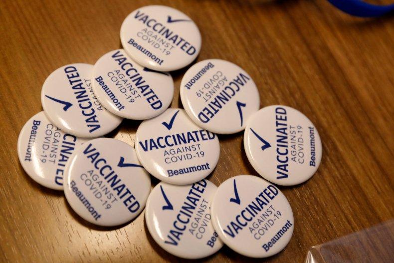 Michigan COVID vaccine pins December 2020
