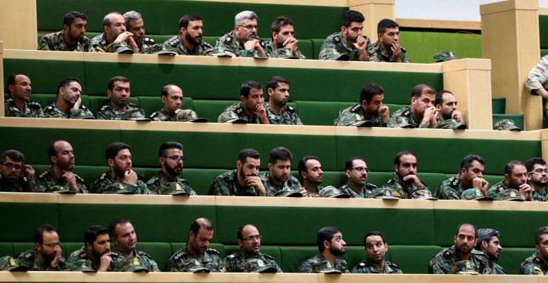 IRGC members in parliament in Tehran