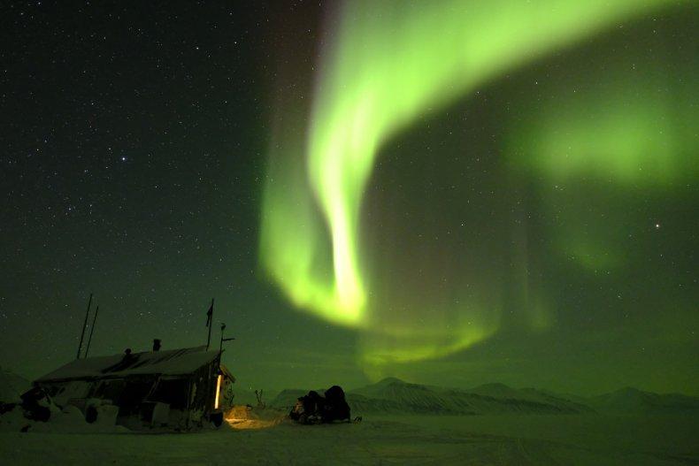 Aurora Borealis Dance Over Bamsebu