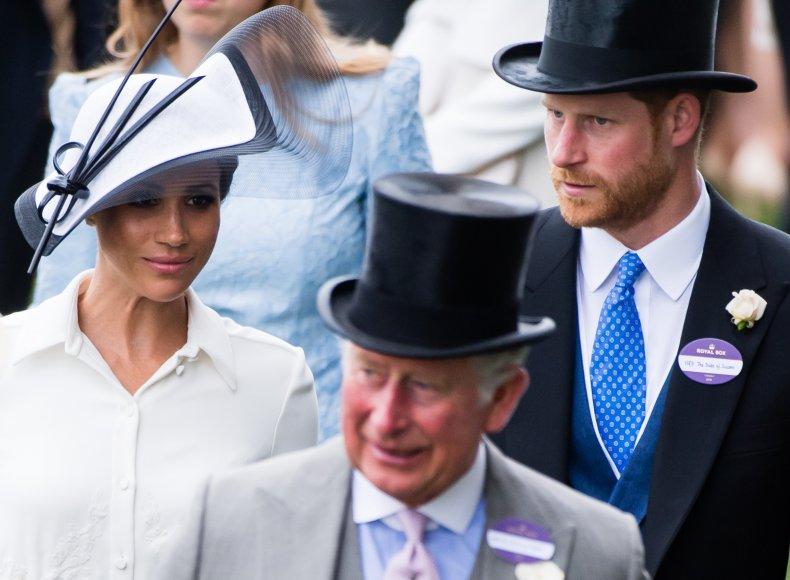 Meghan Markle, Prince Harry and Prince Charles