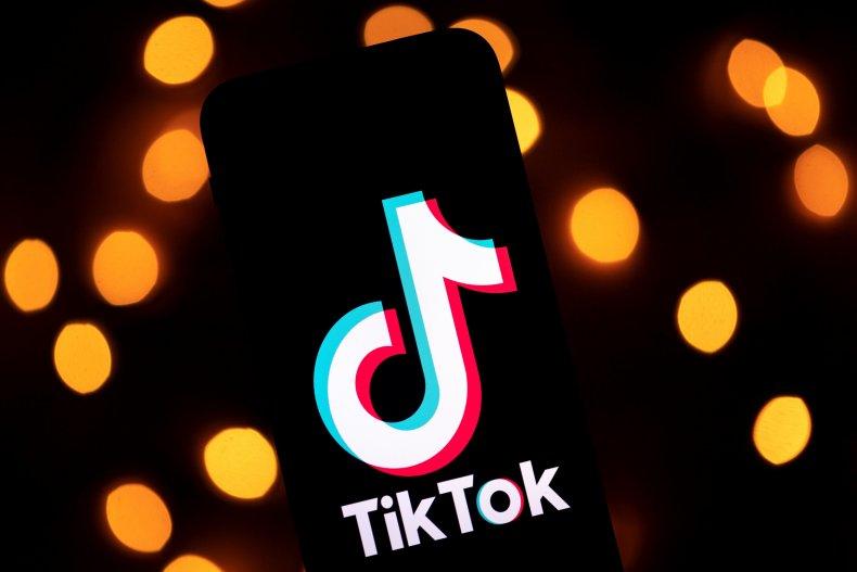TikTok logo on phone screen