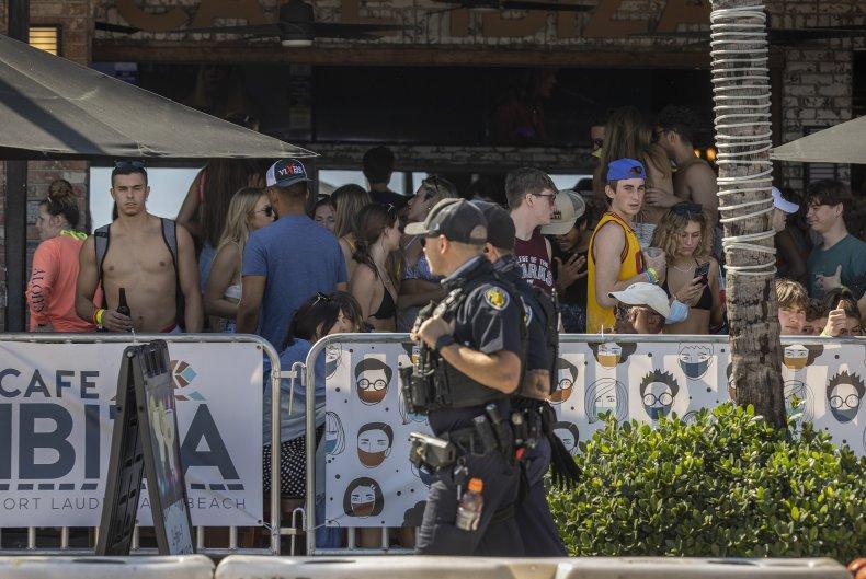 Police Fort Lauderdale Florida spring break 2021