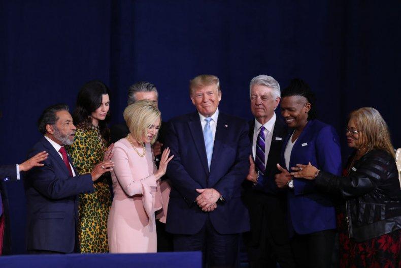 Christians pray for Trump