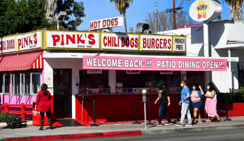 Pink's Hot Dogs California economy