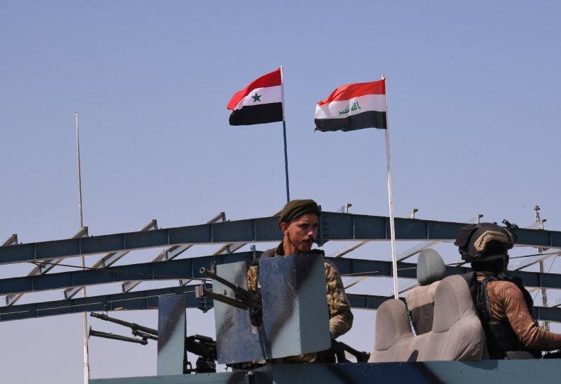 syria, iraq, border, crossing, qaim, bukamal