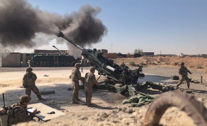 iraq, artillery, fire, war, isis