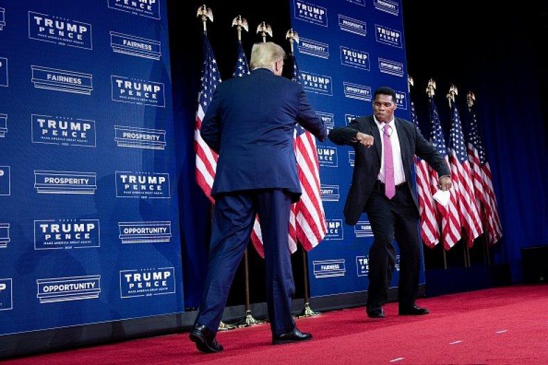 Donald Trump and Herschel Walker