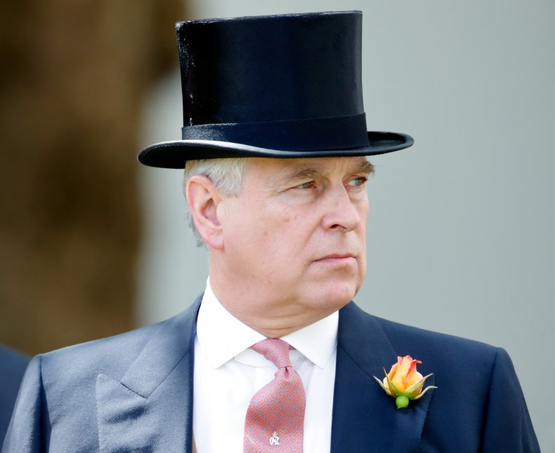 Prince Andrew in Tophat at Ascot Racecourse