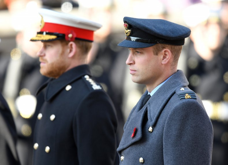 Prince William, Prince Harry at Remembrance Sunday