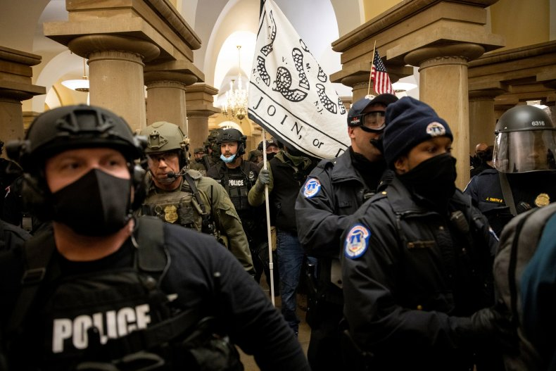 Officers respond to the Capitol rioting