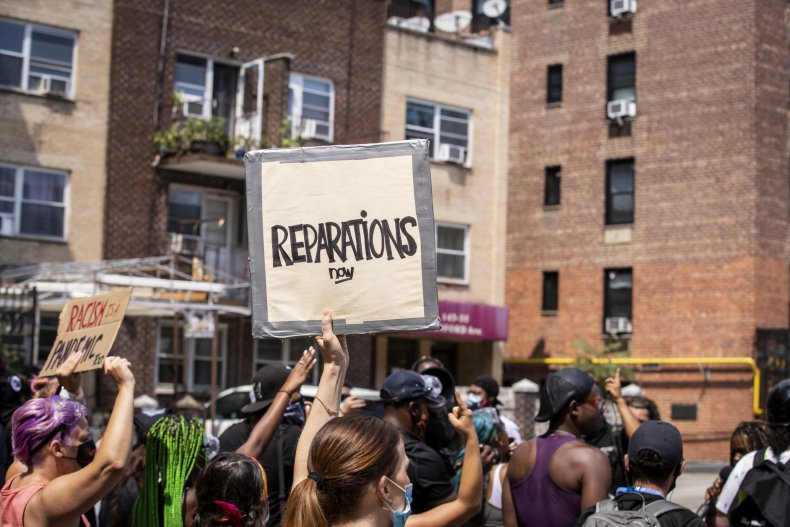 Reparations protest
