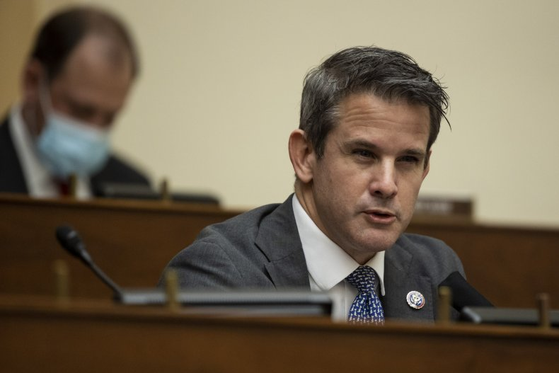 Rep. Adam Kinzinger (R-IL) speaks as U.S.