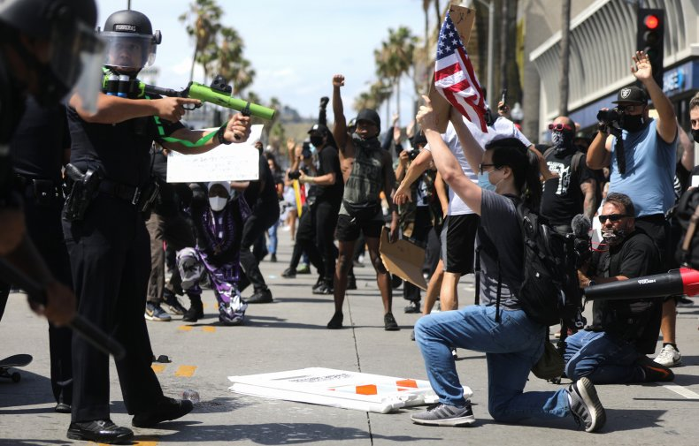 Los Angeles Police LAPD Floyd protest report