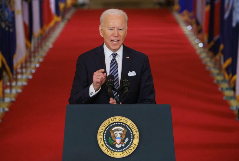 Joe Biden speaks at the White House