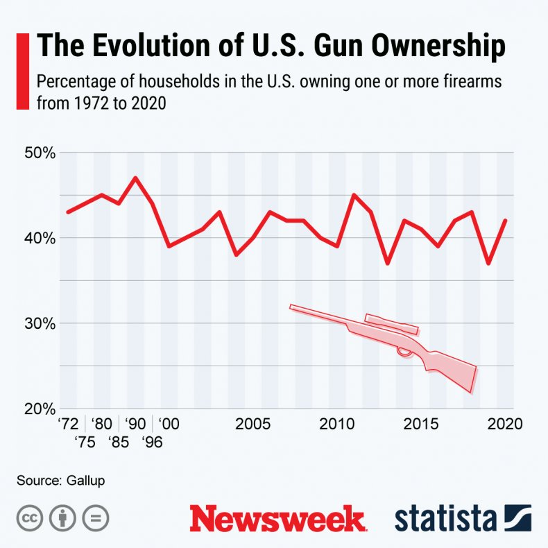 Statista graphic on gun ownership