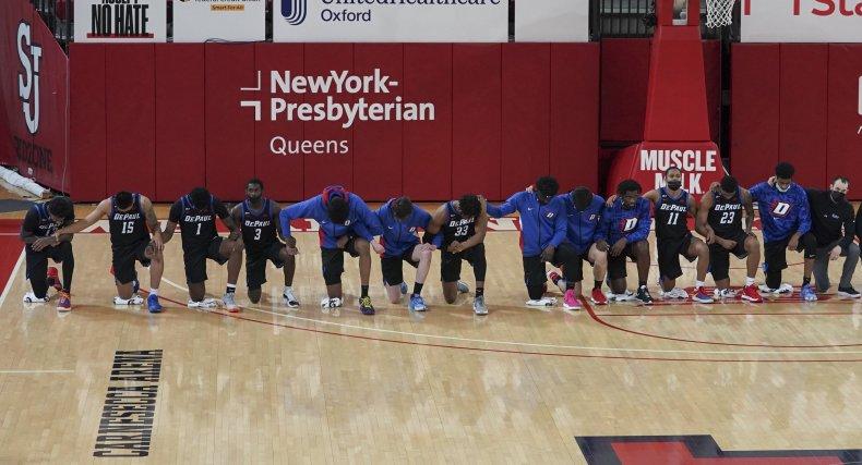 Basketball kneeling protest