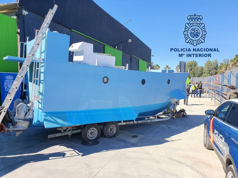 """The """"Narco-Submarine"""" Seized by Spanish Police"""