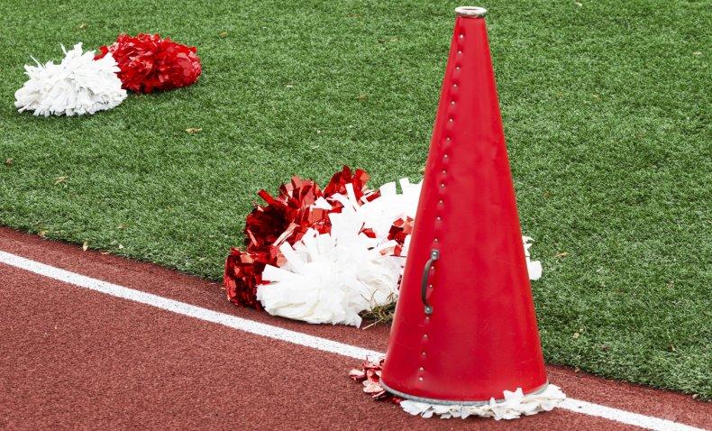 A Red Megaphone Used by Cheerleaders