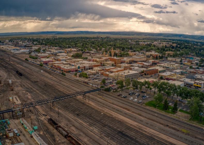 #45. Laramie, Wyoming (tie)