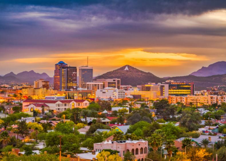 #8. Tucson, Arizona (tie)