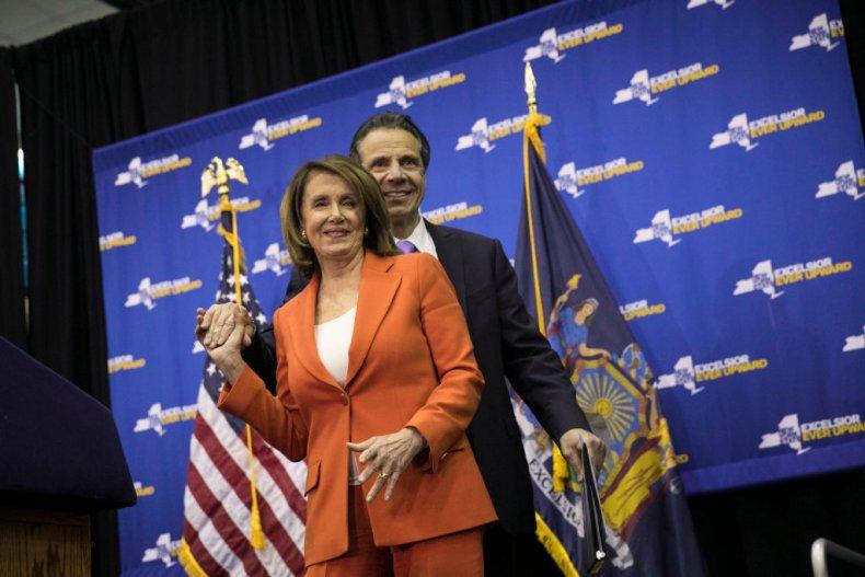 Nancy Pelosi and Andrew Cuomo