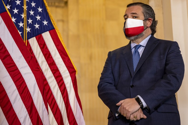 Ted Cruz at Capitol event discussing COVID