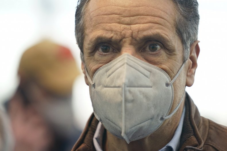 andrew cuomo at vaccination site new york
