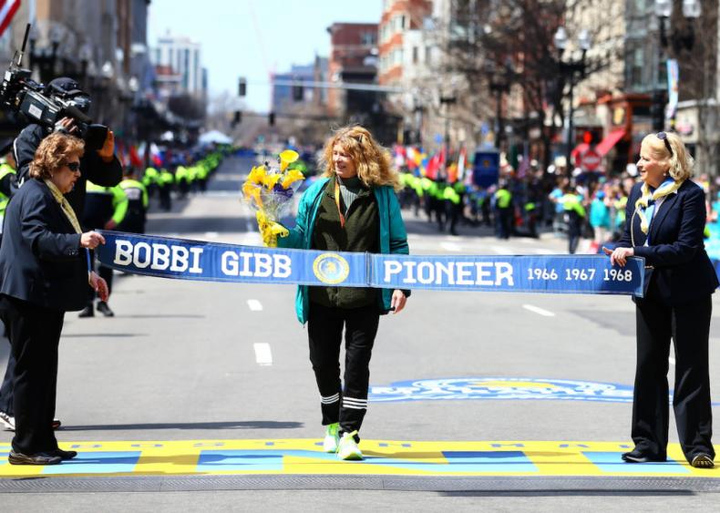 1966: Bobbi Gibb runs the Boston Marathon