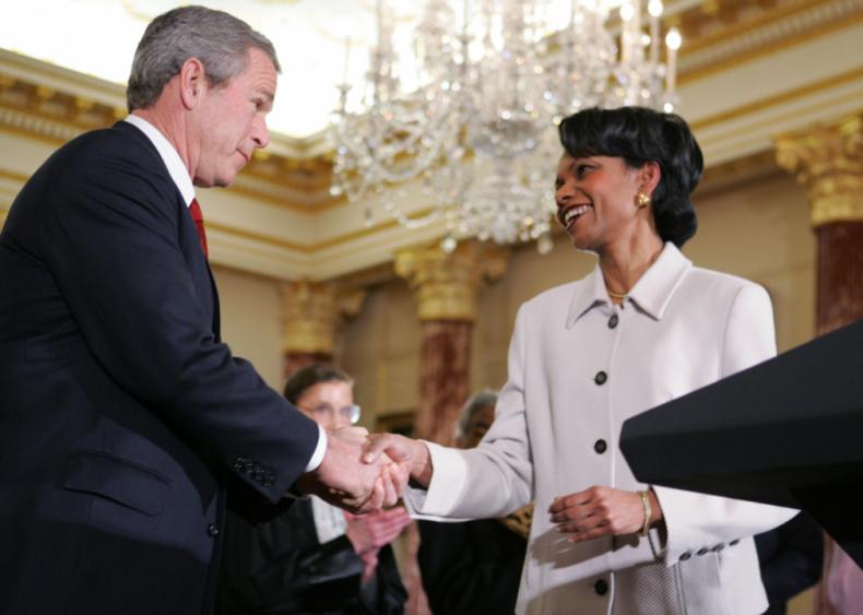 2005: Condoleezza Rice becomes secretary of state