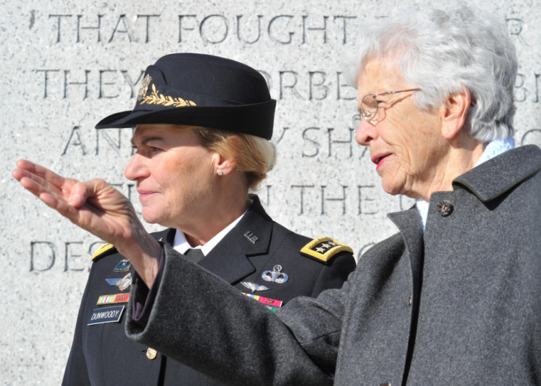 2008: Gen. Ann E. Dunwoody becomes four-star general