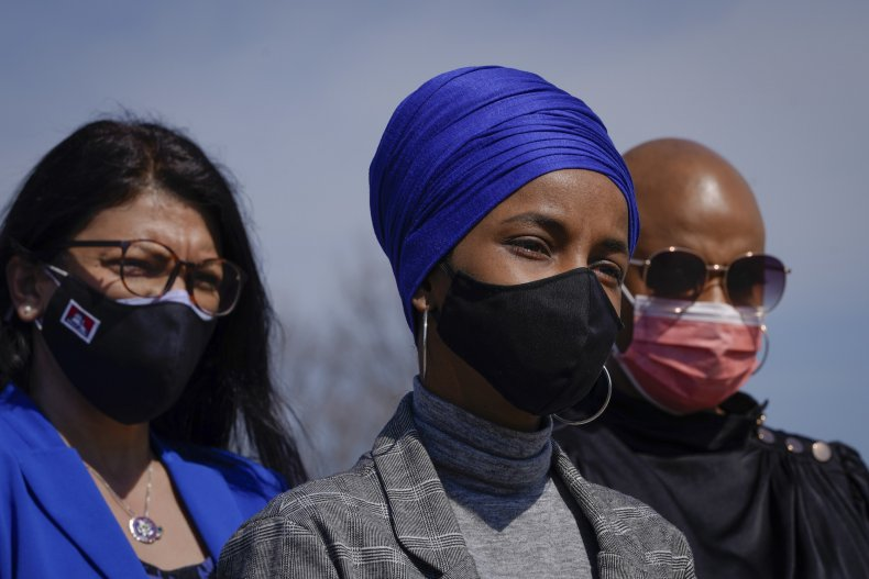 Reps. Tlaib, Omar, Pressley attend news conference