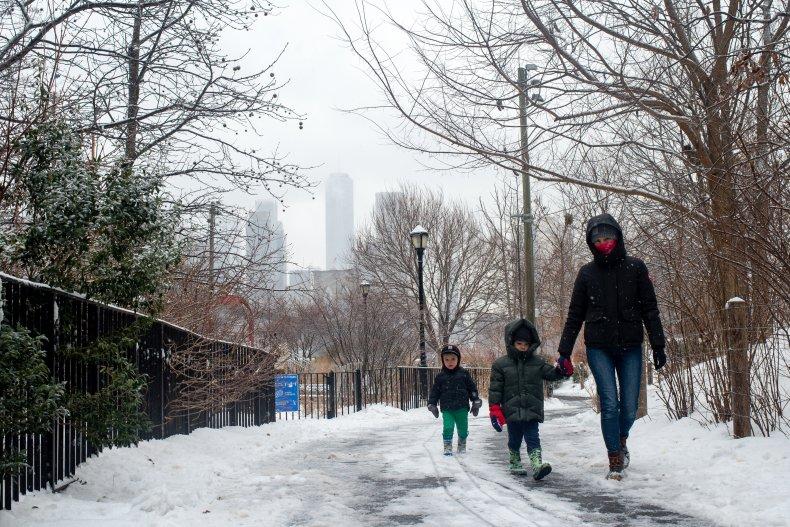 kids walking NYC
