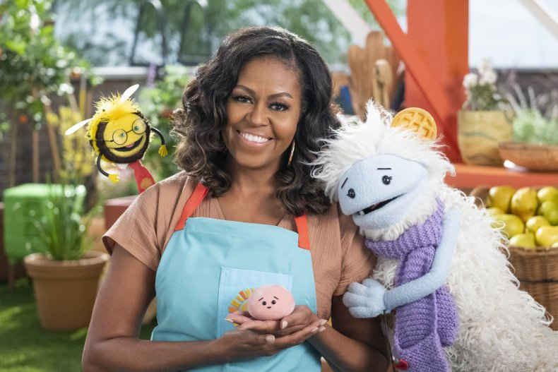 Michelle Obama Appears on 'Waffles + Mochi'