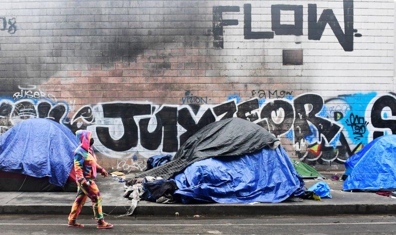homeless LA California February 2021