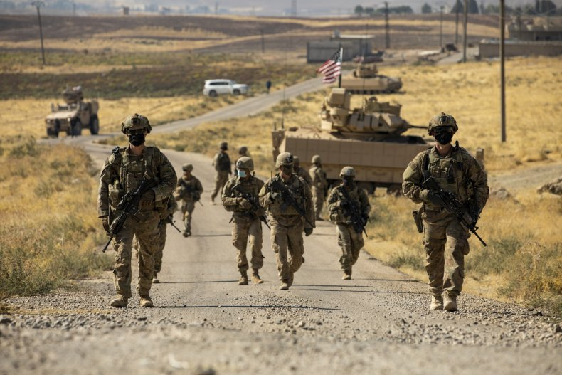 US troops pictured in Syria