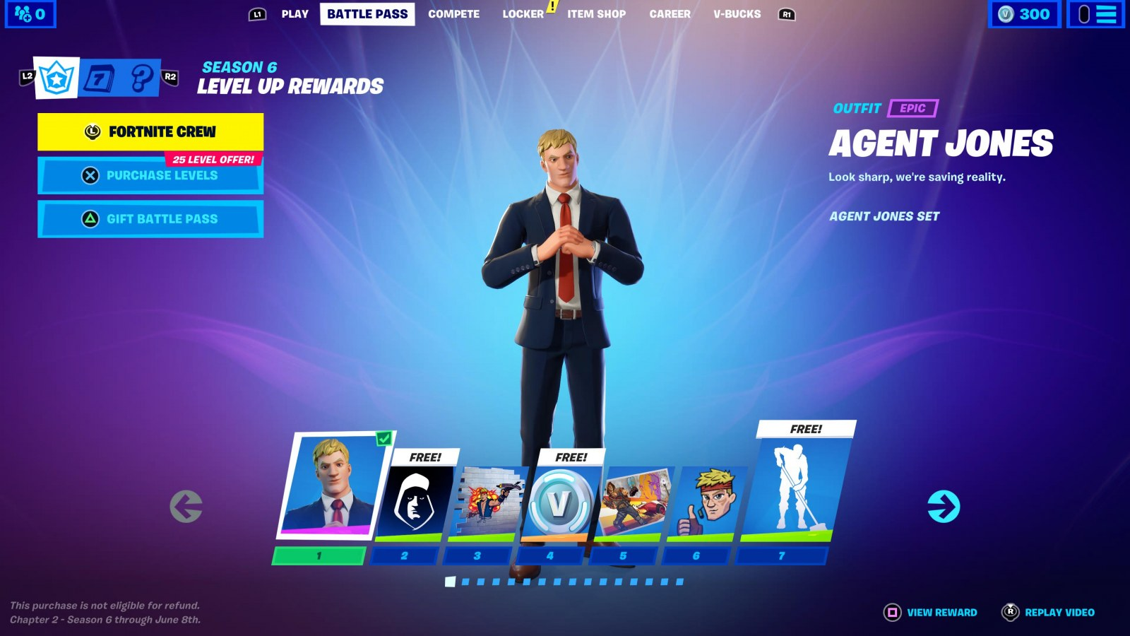It Wont Let Me Buy The Fortnite Battle Pass Fortnite Chapter 2 Season 6 Battle Pass Skins To Tier 100 Lara Croft Raven And More
