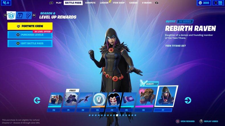 fortnite season 6 battle pass skins raven