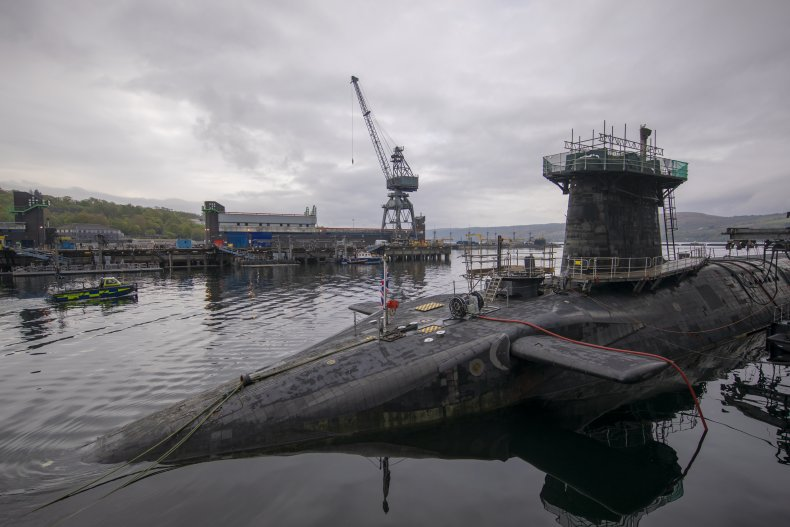 UK HMS Vigilant Trident nuclear missile submarine