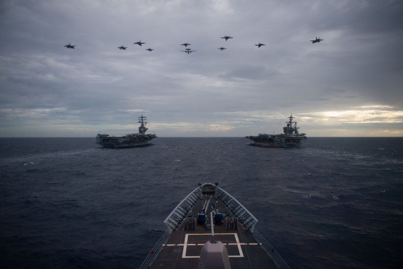 U.S. Navy Aircraft Carriers Conduct Dual-carrier Exercises