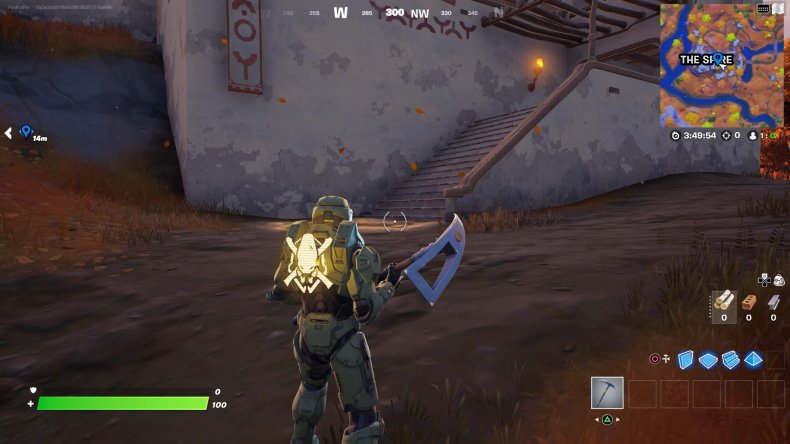 fortnite golden artifact location 1 stairs