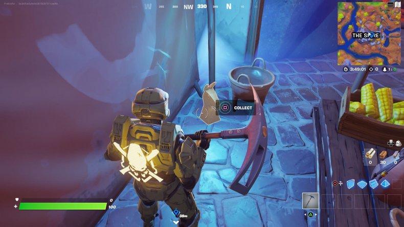 fortnite golden artifact location 1 gameplay