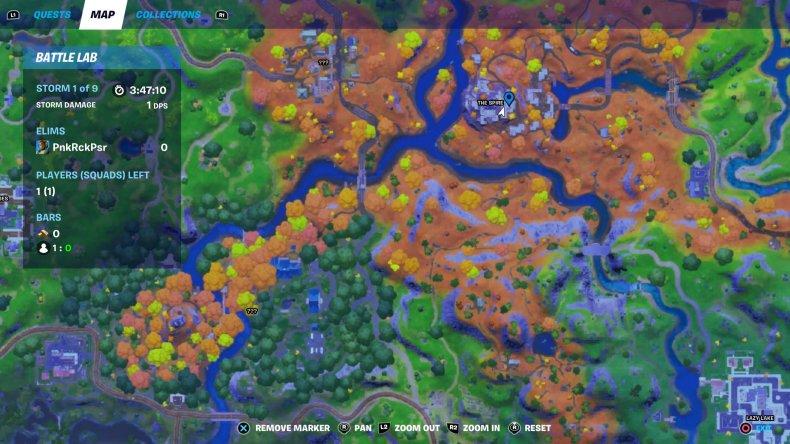 fortnite golden artifact location 2 map