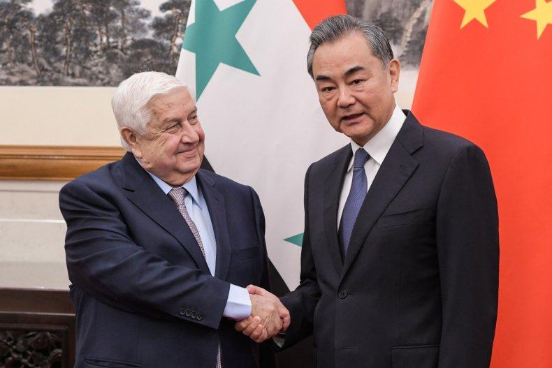 syria, muallen, china, wang, beijing, flags