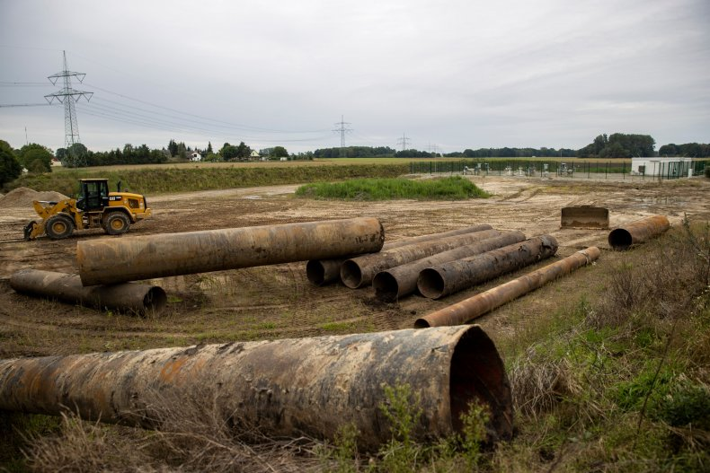 Gas pipes near Nord Stream 2 station