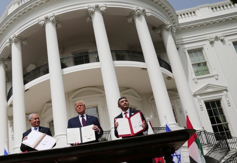 Signing of the Abraham Accords at the