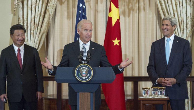 Xi Jinping, Joe Biden and John Kerry