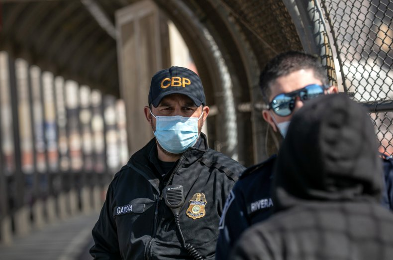 CBP officials at border with Mexico