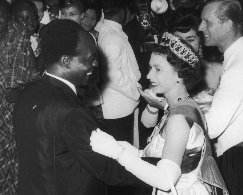 Queen Elizabeth Dances With President Kwame Nkrumah