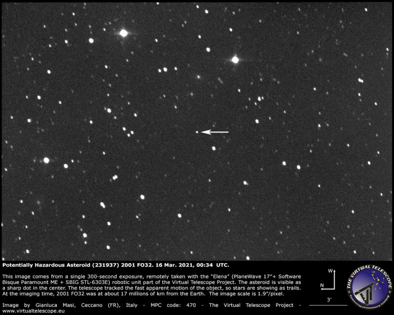 The asteroid 2001 FO32